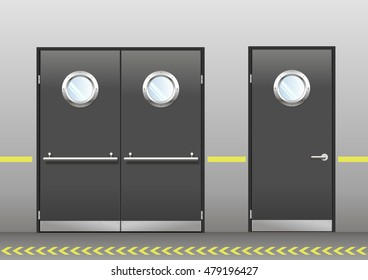 Restaurant Kitchen Door Images, Stock Photos & Vectors ...