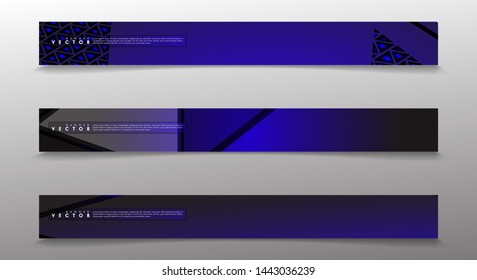Set technology  of banner vectors with glowing blue light. suitable for any background. blank space for your text