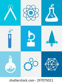 Set of technology science icons