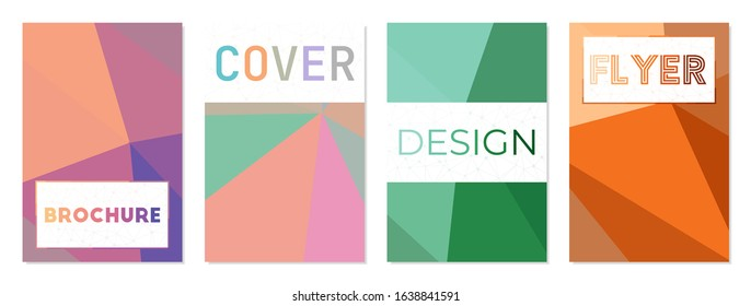 Set of technology style covers. Can be used as cover, banner, flyer, poster, business card, brochure. Charming geometric background collection. Authentic vector illustration.