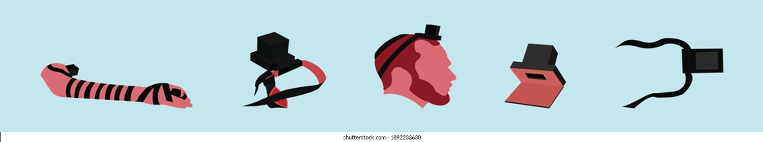set of tefillin cartoon icon design template with various models. modern vector illustration isolated on blue background