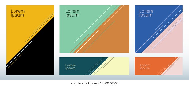 Set of template abstract triangle background with diagonal line decoration. You can use for brochure cover, poster, banner web, flyer, etc. Vector illusration