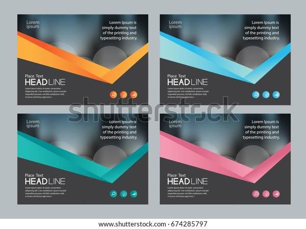 Set Template Design Social Media Web Stock Vector Royalty Free 674285797
