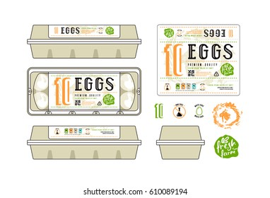 egg carton labels template - egg carton images stock photos vectors shutterstock