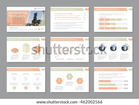 set template multipurpose presentation slides leaflet のベクター