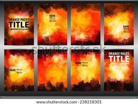 set templates brochure cover sheets posters stock vector royalty