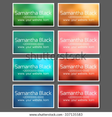 Set Templates Business Cards Coupons Vouchers Stock Vector Royalty