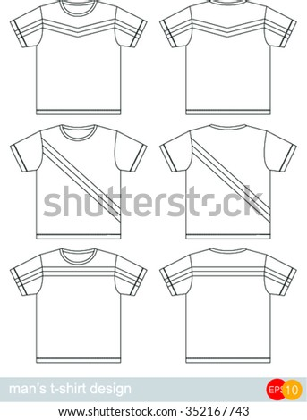 6338801f Set Templates Colored Tshirts Men Stock Vector (Royalty Free ...