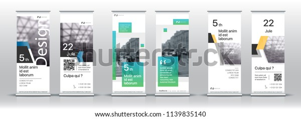 Set Templates Design Vertical Banners Signboard Stock Vector Royalty Free 1139835140