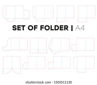Set templates folders and die cut, stamp