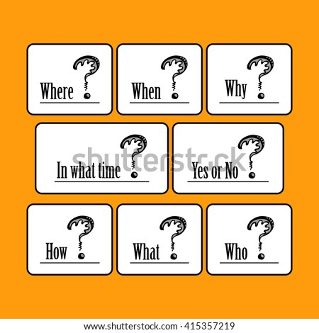 Set Templates Quotes Questions What Time Stock Vector Royalty Free