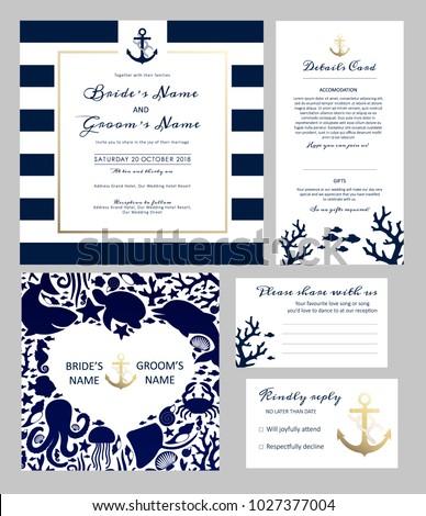 set templates wedding invitation postcard information stock vector