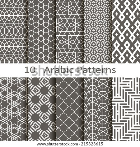 Set of ten Arabic patterns