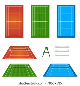 Set of Tennis Courts 1