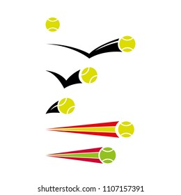 a set of tennis icons