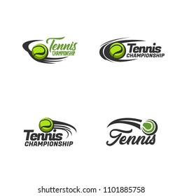 Set of tennis logo icon design. sport badge template collection. Vector illustration