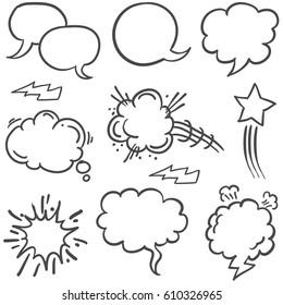 Set of text balloons collection