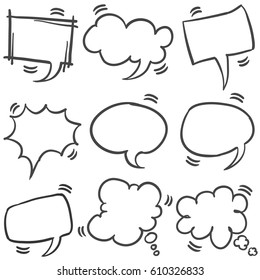 Set of text bubble style collection