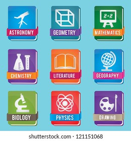 Set of textbook - vector icons