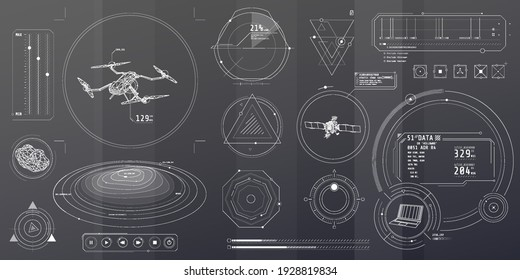 A set of thin elements on the topic of Drone Control.