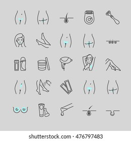 Depilation Icons Images Stock Photos Vectors Shutterstock