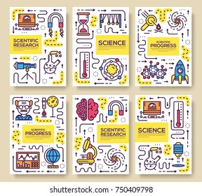 Set of thin line technical minds pattern concept. Art physics and mathematics equipment, magazine, book, poster, abstract, banners, element. Vector outline package greeting card or invitation brochure