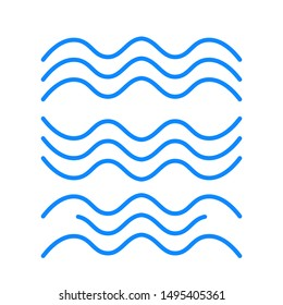 Set of thin line waves vector, collection