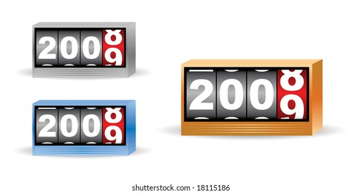 set of three clock timers for 2008 2009 time