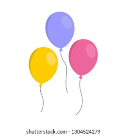 Set of three colorful baloons