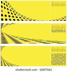 Set of Three High Quality Template Abstract Background Vector Design Illustrations