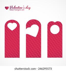 Set of three valentine's day themed door hangers
