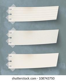 Set of three vintage paper's labels
