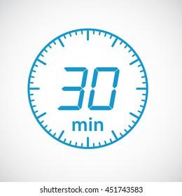Set of timers  30 minutes Vector illustration