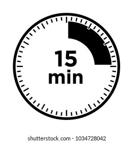 Set of timers - fifteen minutes, transparent sign 15 min.