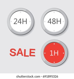 Set of timers Sale countdown