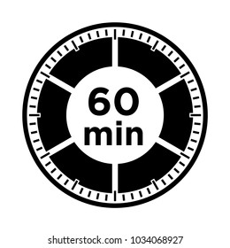Set of timers - sixty minutes, transparent sign 60 min.