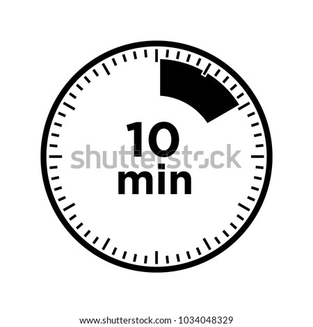 set timers ten minutes transparent sign stock vector royalty free