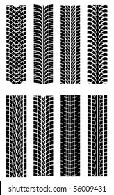 Set of tire shapes. Jpeg version also available in gallery