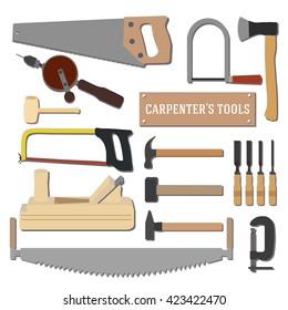Set of  tools for carpenter