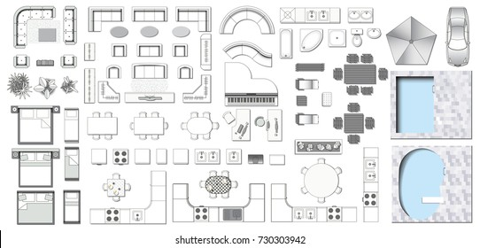 Sofa Plan Images, Stock Photos & Vectors | Shutterstock