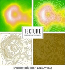 set of Topographic map, seamless pattern, line design, vector illustration
