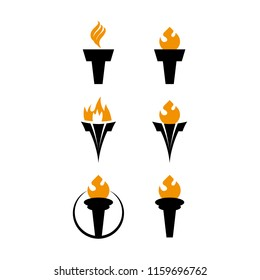 a set of torch icons