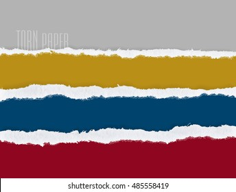 Set of torn paper, vector. Graphic resources design template