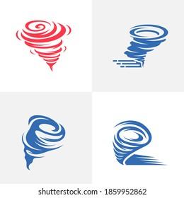 Set of Tornado logo vector template, Creative Twister logo design concepts, icon symbol, Illustration