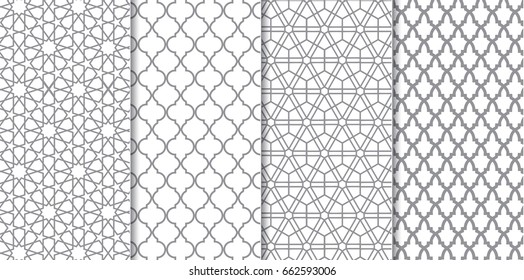 The set of Traditional Arabian pattern backgrounds