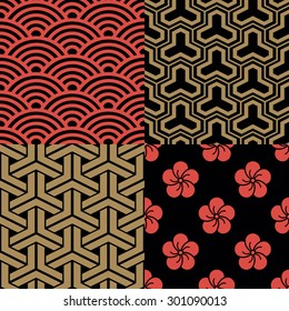 Set of traditional Japanese Patterns