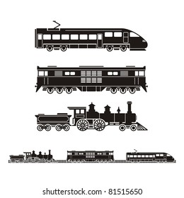 set of trains from different time