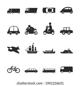 Set of transport icon vector illustration