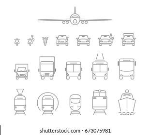 set transport icons