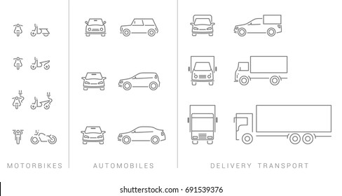 set transport icons